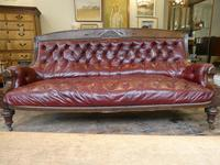 19th Century Aesthetic Leather Sofa (9 of 11)