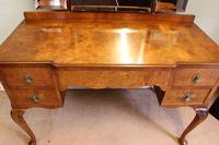 Antique Burr Walnut, Triple Mirror Shaped Dressing Table (7 of 12)