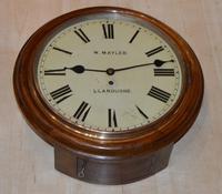 W Mayler Llandudno Fusee Dial Wall Clock