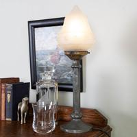 Vintage Hammered Pewter Table Lamp c.1940 (7 of 7)