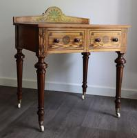 Victorian Pitch Pine Highly Decorated Side Table (6 of 8)