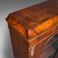 Antique Display Bookcase, English, Walnut, Boxwood, Empire, Cabinet, Regency (8 of 12)