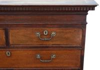 Georgian Crossbanded Oak Tallboy Chest on Chest of Drawers (4 of 10)