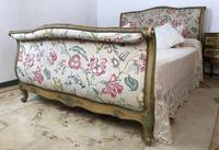 French Roll End Style Double Bed Frame With Matching Armchairs & Side Table (6 of 17)