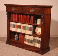 19th Century Mahogany Open Bookcase with Two Drawers (6 of 12)