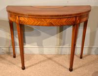 19th Century Kingwood & Satinwood Demi-lune Card Table