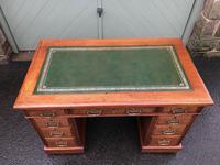Antique Walnut Pedestal Writing Desk (pri) (2 of 10)