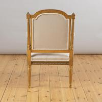 Pair of Large 19th Century Louis XV1 Style French Gilt Armchairs (7 of 10)