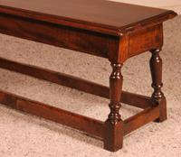 Small Louis XIII Walnut Bench 19th Century (4 of 7)