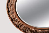 Large 19th Century Swedish Oval Carved Oak Mirror by A Lundmark (3 of 9)