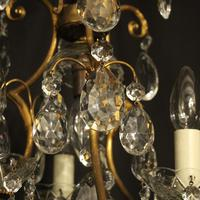 French Gilded Birdcage 4 Light Antique Chandelier (8 of 10)