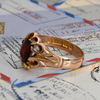 The Antique Edwardian 1904 Rose Gold Garnet Ring (4 of 6)