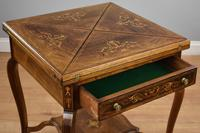 Victorian Rosewood Envelope Card Table (10 of 12)