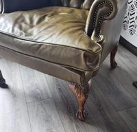 Pair of Leather Wing Chairs (7 of 10)