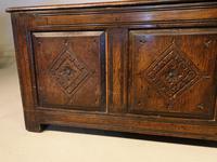Small 17th Century Style Oak Coffer c.1890 (3 of 5)