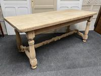 French Rustic Bleached Oak Farmhouse Kitchen Table (15 of 23)