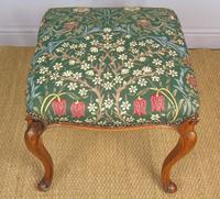 Good Early Victorian Mahogany Cabriole Stool (3 of 7)