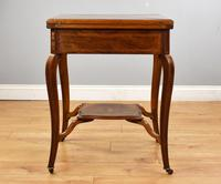 Victorian Rosewood Envelope Card Table (5 of 12)