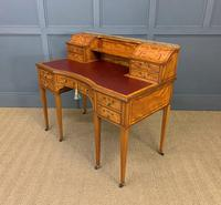 Inlaid Satinwood Carlton House Desk by Jas Shoolbred (7 of 25)