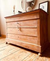 French Antique Drawers / Bleached Walnut Chest of Drawers / Louis Philippe Commode (4 of 5)