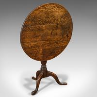 Antique Circular Table, English, Oak, Folding, Side, Occasional, Georgian, 1780 (7 of 9)