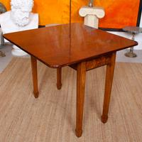 Writing Table 19th Century Flamed Mahogany Folding Card Console Table (9 of 12)