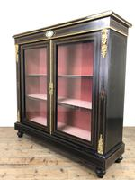 Victorian Ebonised Inlaid Side Cabinet with Brass Mounts (15 of 15)
