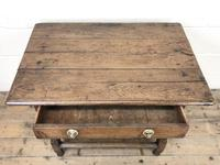 Antique Oak Side Table (m-2295) (3 of 12)