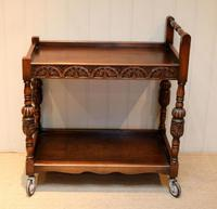 Carved Oak Trolley (3 of 10)