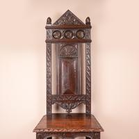 Carved Oak High Backed Side Chair (6 of 9)