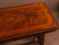 Super Quality Victorian Burr Walnut & Marquetry Card Table (2 of 12)