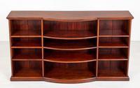 Victorian Mahogany Triple Open Bookcase (6 of 8)