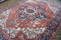 Antique Serapi Heriz Carpet 374x260cm (6 of 13)