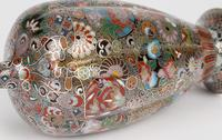 Oriental, Chinese / Japanese Exceptional Silver Metal Cloisonne Vase (3 of 25)