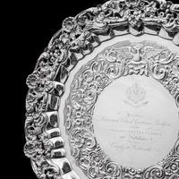 Magnificent Georgian Sterling Silver Tray / Salver with Military Lieutenant Interest - James Fray 1833 (22 of 23)