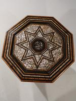 Early 20th Century Syrian Hardwood & Mother of Pearl Octagonal Table (5 of 5)