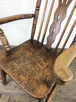 Antique Beech & Elm Windsor Armchair (8 of 12)