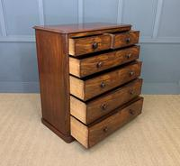 Victorian Tall Mahogany Chest of Drawers (9 of 12)