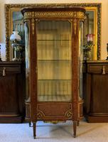 Exceptional 19th Century French Kingwood Parquetry Gilt Metal Vitrine Display Cabinet (4 of 17)