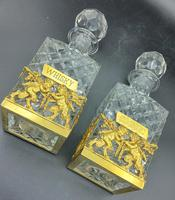 Pair of French Ormolu Cut Crystal Decanters Whisky & Cognac (2 of 8)