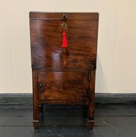 Rare & Fine 18th Century George III Figured Mahogany Drinks Decanter Bottle Cabinet (2 of 16)