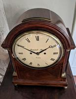George III Mahogany Fusee Bracket Clock (2 of 6)