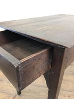 Antique Georgian Oak Side Table with Drawer (4 of 13)