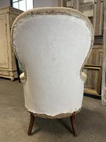 Antique French Balloon Back Armchair (6 of 6)