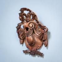 Carved Walnut Cartouche (3 of 6)