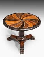 Anglo-Portuguese 19th Century Inlaid Table with Exotic Timbers (2 of 4)