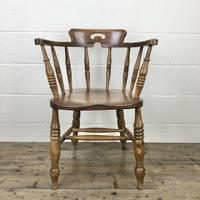 Antique Beech Spindle Back Smoker's Bow Chair (8 of 8)