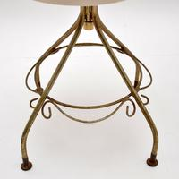 Pair of Vintage French Brass Swivel Side Chairs (10 of 10)