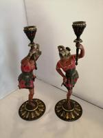Pair of 19th century Austrian cold painted figures