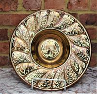 Gordon Forsyth, Copper Lustre Earthenware Shallow Footed Dish in Hispano Moresque Style c.1930 (6 of 8)